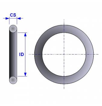O-ring 2.8mm ID x 1.8mm CS FKM 75